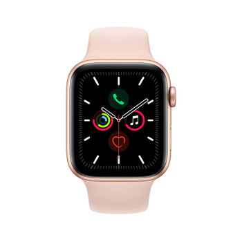 Apple Watch Series 5 Caja de Aluminio de 44mm de Color Oro con Correa de Color Rosa