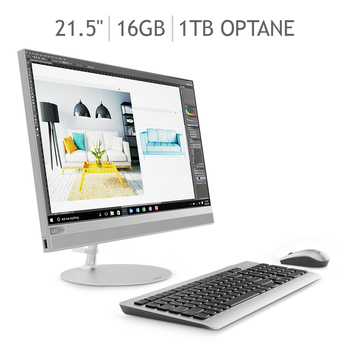 "Lenovo Ideacentre 520 All-in-One 16GB Optane™ 21.5"" Intel® Core™ i3-8100T"