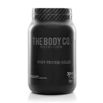 Proteína en Polvo Sabor Chocolate, The Body Co. Whey Isolate, 1035 g.