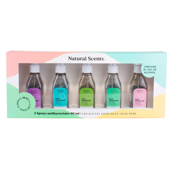 Spray Antibacterial, Natural Scents, 5 piezas