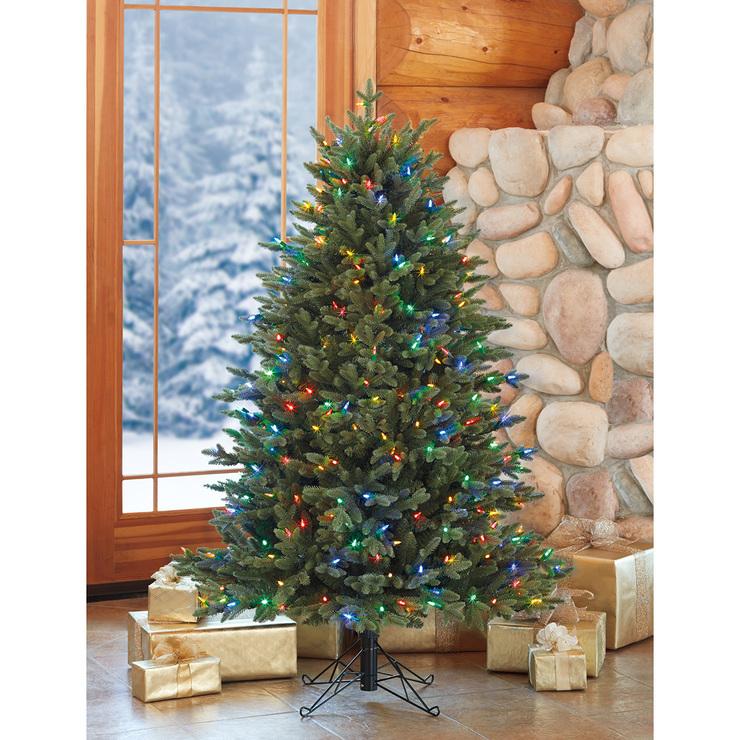 Rbol de navidad artificial de 1 5 metros con 350 luces - Arbol artificial de navidad ...