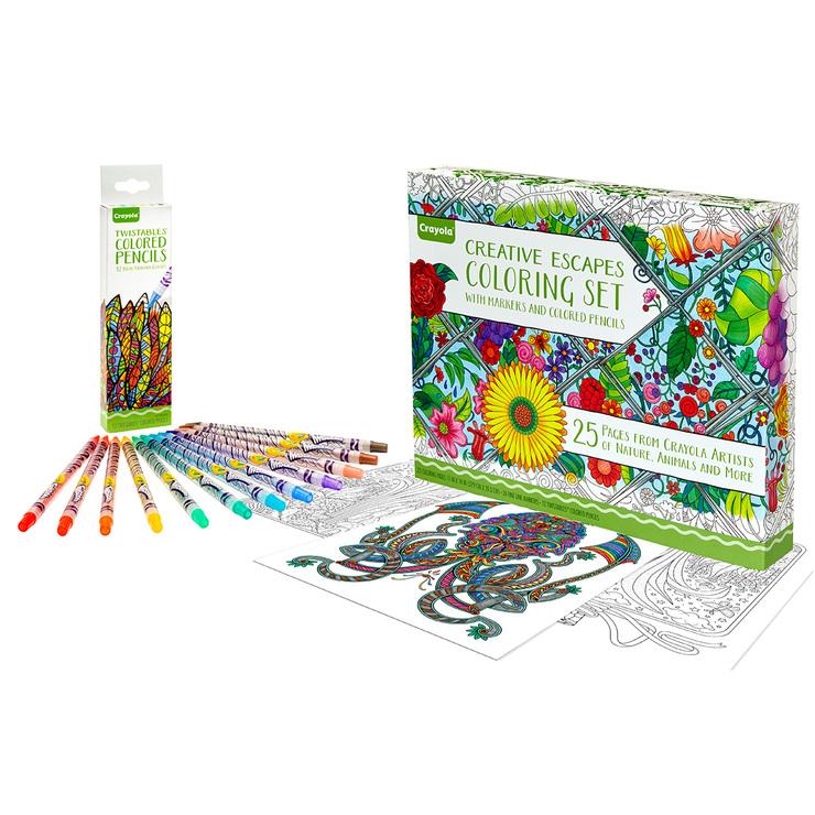 Crayola set marcadores, colores y hojas para colorear 61 piezas ...