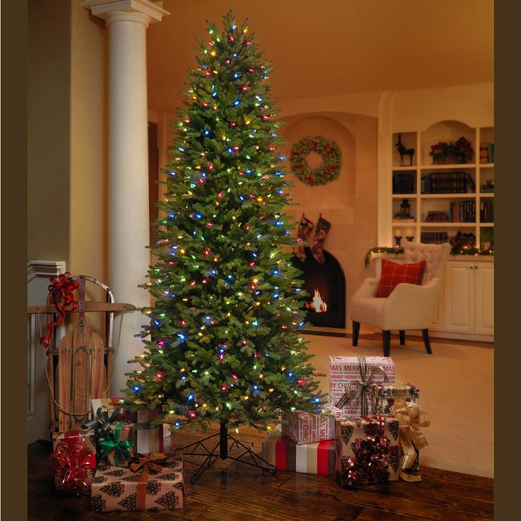 Ge rbol de navidad artificial delgado de 2 2 metros con - Arbol artificial de navidad ...