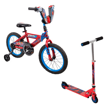 Bicicleta R16 y Scooter, Huffy Marvel® Spider-man