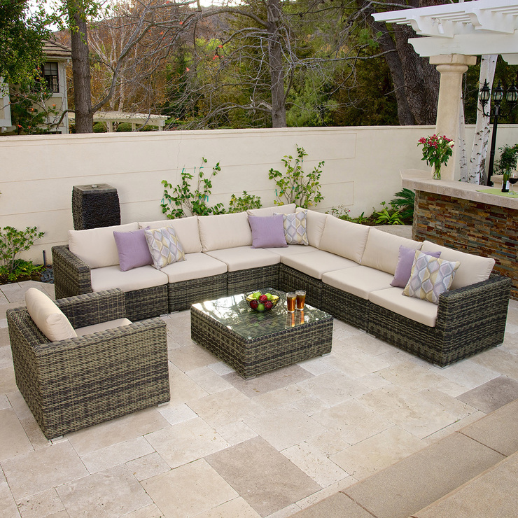 Malaga sala de patio de 9 piezas costco mexico - Muebles de jardin malaga ...