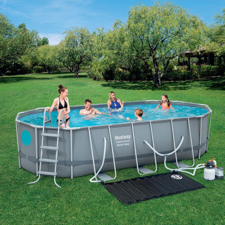 Bestway alberca ovalada con armaz n de metal costco mexico for Accesorios para piscinas inflables