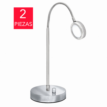 Swingline Lámpara LED de Escritorio Metálica con Cuello Flexible