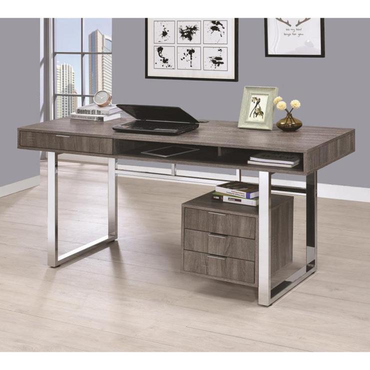 coaster escritorio para oficina gris costco mexico