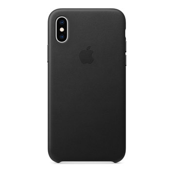 Apple Funda de piel para iPhone XS - Negro