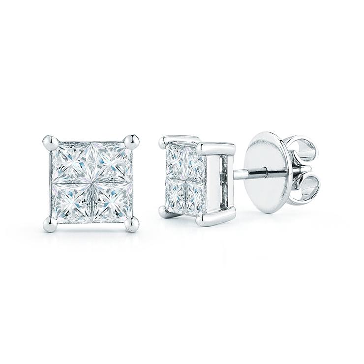 revisa 9729f 73c30 1.46ctw, Aretes de Diamantes, Corte Cuadrado, Oro Blanco de 14Kt | Costco  México