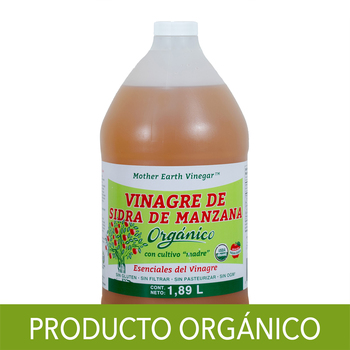 Mother Earth vinagre de sidra de manzana orgánico 1.89 L