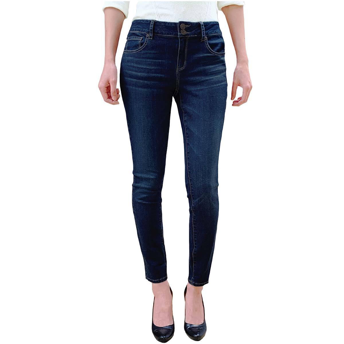 Leo Nicole Pantalon De Mezclilla Al Tobillo Tipo Skinny Para Dama Azul Costco Mexico